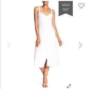 NWOT Lucky Brand Button Up Linen Blend Dress
